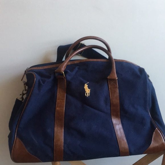 26ce92c8207b Polo Ralph Lauren canvas leather duffel. M 5a9ee62f8290afe2fd179469